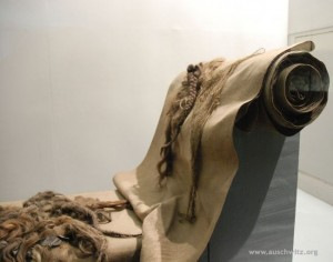 Exhibition of hair in Auschwitz-Birkenau