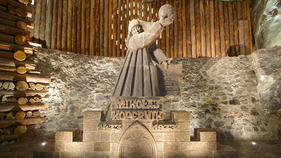 Kopernik Salt statue in Wieliczka Salt Mine